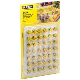 """Noch 07026 Grästuvor XL Blommande gula"""" 42 st, 12 mm långa"""
