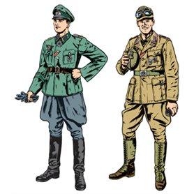Tamiya 25154 Figurer WWII Wehrmacht Officer & Africa Corps Tank Crewman