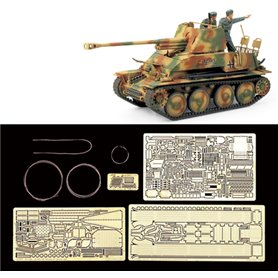 Tamiya 25161 Tanks German Tank Destroyer Marder III(w/ABER® Photo-Etched Parts)