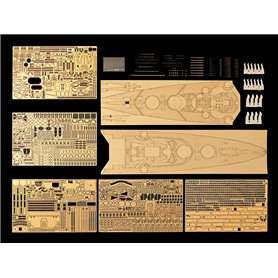 Tamiya 25181 1/350 Bismarck 78013 1941 Detail-Up Set