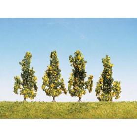 Faller 181396 Fruktträd, 4 st, blommande, höjd ca 6 cm