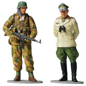 Tamiya 89629 Figurer Feldmarschall Rommel & German Infantryman