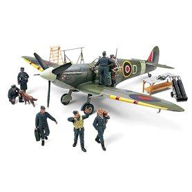 Tamiya 89730 Flygplan Supermarine Spitfire Mk.VB with 7 RAF crew figures