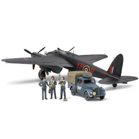 Tamiya 89786 Flygplan De Havilland Mosquito NF Mk.II & British Light Utility Car 10HP