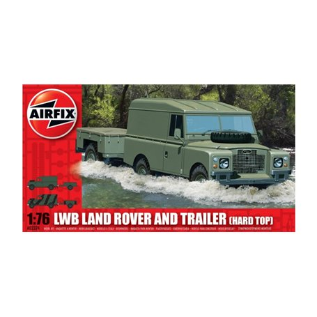 Airfix 02324 LWB Land Rover and Trailer (Hard Top)
