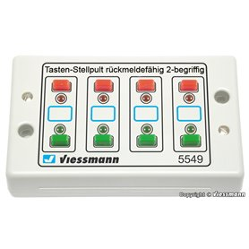 Viessmann 5549 Universal push button panel, feedback, 2-aspects