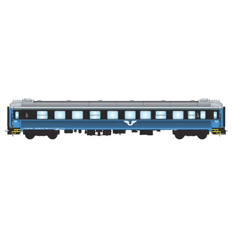 NMJ 205402 Personvagn SJ B5KRT 5007 2:a klass, blå/svart, version 2
