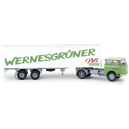 "Brekina 71811 Bil & Trailer Liaz 706 ""Wernesgrüner Pils"""