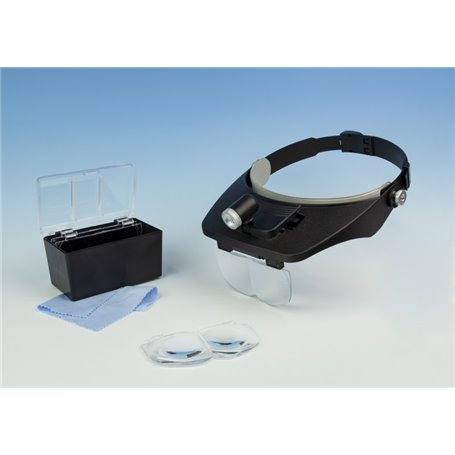 Model Craft LC1764LED LED Headband Magnifier Kit with Bi-Plate Magnification