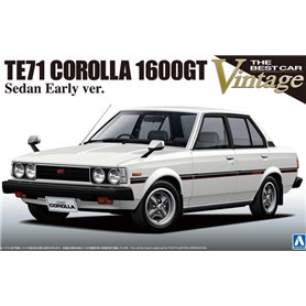 Aoshima 008744 Tooyta TE71 Corolla 1600GT Sedan Early Version