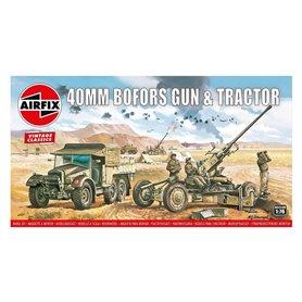 Airfix 02314V Bofors 40mm Gun & Tractor, Airfix Vintage Classics