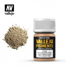 Vallejo 73102 Pigment 102 Light Yellow Ocre 35ml