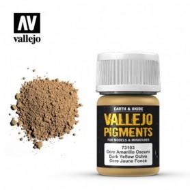 Vallejo 73103 Pigment 103 Dark Yellow Ocre 35ml