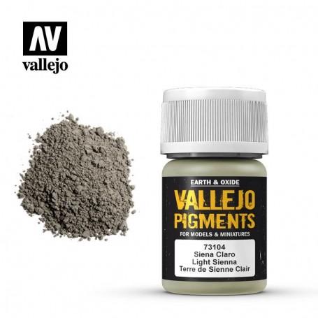 Vallejo 73104 Pigment 104 Light Siena 35ml