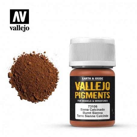 Vallejo 73106 Pigment 106 Burnt Siena 35ml