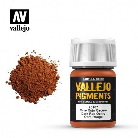 Vallejo 73107 Pigment 107 Dark Red Ocre 35ml
