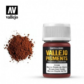 Vallejo 73108 Pigment 108 Brown Iron Oxide 35ml