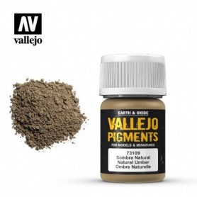 Vallejo 73109 Pigment 109 Natural Umber 35ml