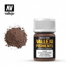 Vallejo 73110 Pigment 110 Burnt Umber 35ml