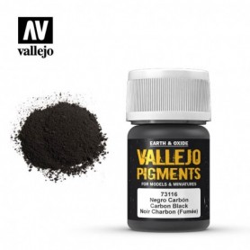 Vallejo 73116 Pigment 116 Carbon Black (Smoke Black) 35ml