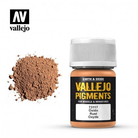 Vallejo 73117 Pigment 117 Rust 35ml