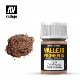 Vallejo 73119 Pigment 119 European Earth 35ml