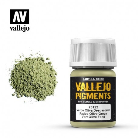 Vallejo 73122 Pigment 122 Faded Olive Green 35ml