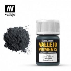 Vallejo 73123 Pigment 123 Dark Steel 35ml