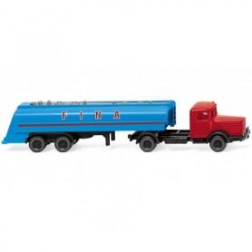 Wiking 98242 Tanktrailer Büssing 8000 'FINA'
