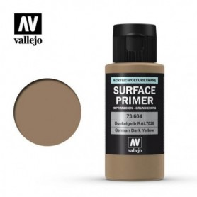 Vallejo 73604 Surface Primer 604 German Dark Yellow 60ml