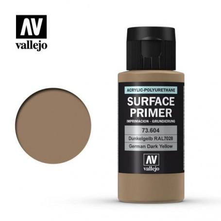 Vallejo 73604 Surface Primer 604 German Dark Yellow 60ml