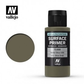Vallejo 73608 Surface Primer 608 US Olive Drab 60ml