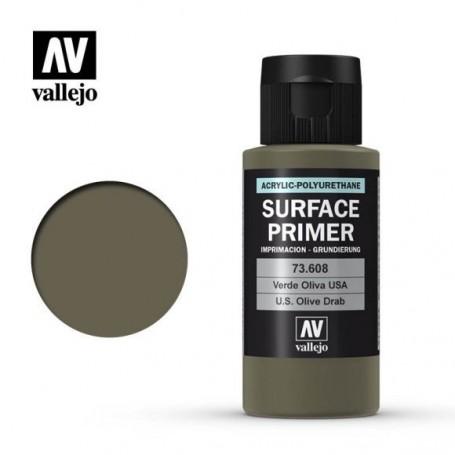 Vallejo 73608 Surface Primer 608 US Olive Drab 60ml