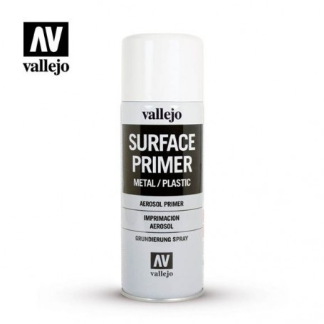 Vallejo 28010 Spray Surface Primer White 400 ml