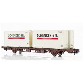 NMJ 611110 Containervagn SJ Lgjs 42 74 440 4 399-1, SCHENKER-BTL