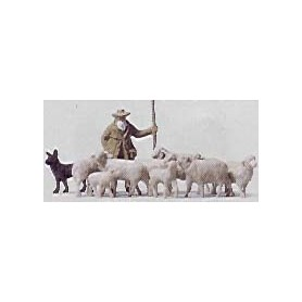 Merten H0 5026 Fåraherde med hund och 10 st får