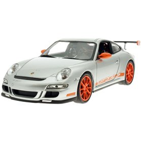 Welly 18015 Porsche 911 (997) GT3 RS 2007, grå med orange fälgar