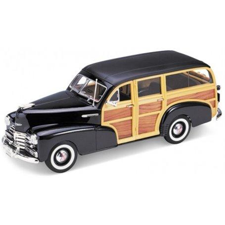 Welly 19848 Chevrolet Fleetmaster 1948, svart/trä