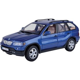 Motormax 73105 BMW X5 2001, metallic avos blue