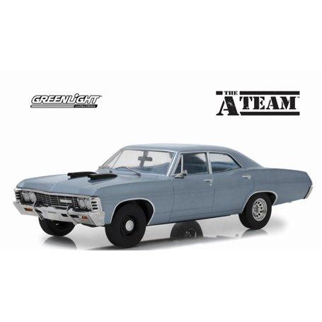 """Greenlight 19047 Chevrolet Impala Sport Sedan 1967 """"The A-Team"""" 1983-87, blågrå"""