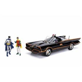 "Jada Toys 98625 Batmobile 1966 ""Classic"" Batman och Robin figurer"
