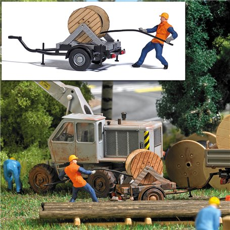 Busch 7836 Cable Installer with Trailer