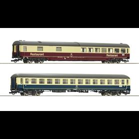 "Roco 74163 Vagnsset med 2 personvagnar typ DB ""Leonardo da Vinci"""