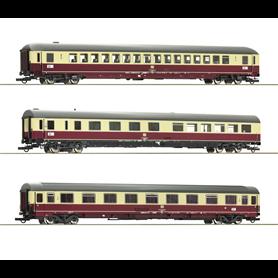 "Roco 74123 Vagnsset med 3 personvagnar TEE 26/27 ""Erasmus"" typ DB"