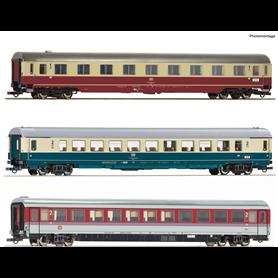 "Roco 74133 Vagnsset med 3 personvagnar EC ""Leonardo Da Vinci"" typ DB Set 1"
