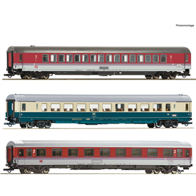 "Roco 74134 Vagnsset med 3 personvagnar EC ""Leonardo Da Vinci"" typ DB Set 2"