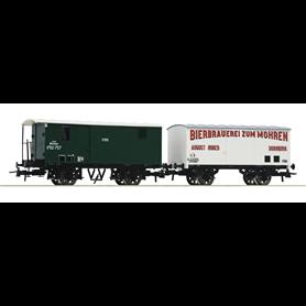 Roco 67172 Set med 2 godsvagnar typ k.k.St.B