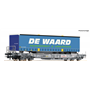 """Roco 76754 Flakvagn med last av trailer """"De Waard"""""""