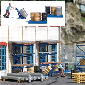 Busch 7842 Barrel Cart