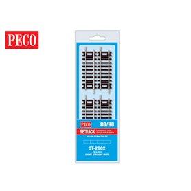 Peco ST-2002 Kort rak, 79 mm, 4 st